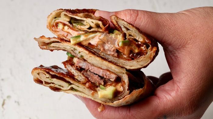 Scallion Pancake Beef Wraps Recipe