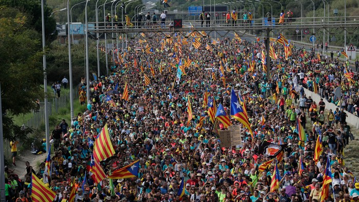 Catalonia's Protests Are So Big They Canceled the Barcelona-Real Madrid 'El Clásico'