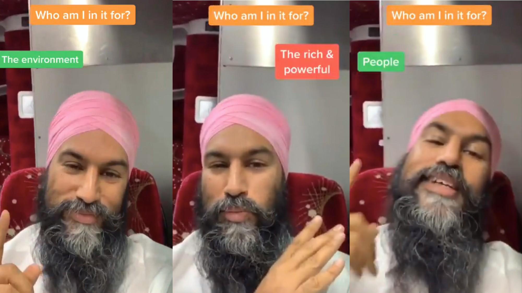 People Can't Stop Watching This Jagmeet Singh TikTok Meme - VICE