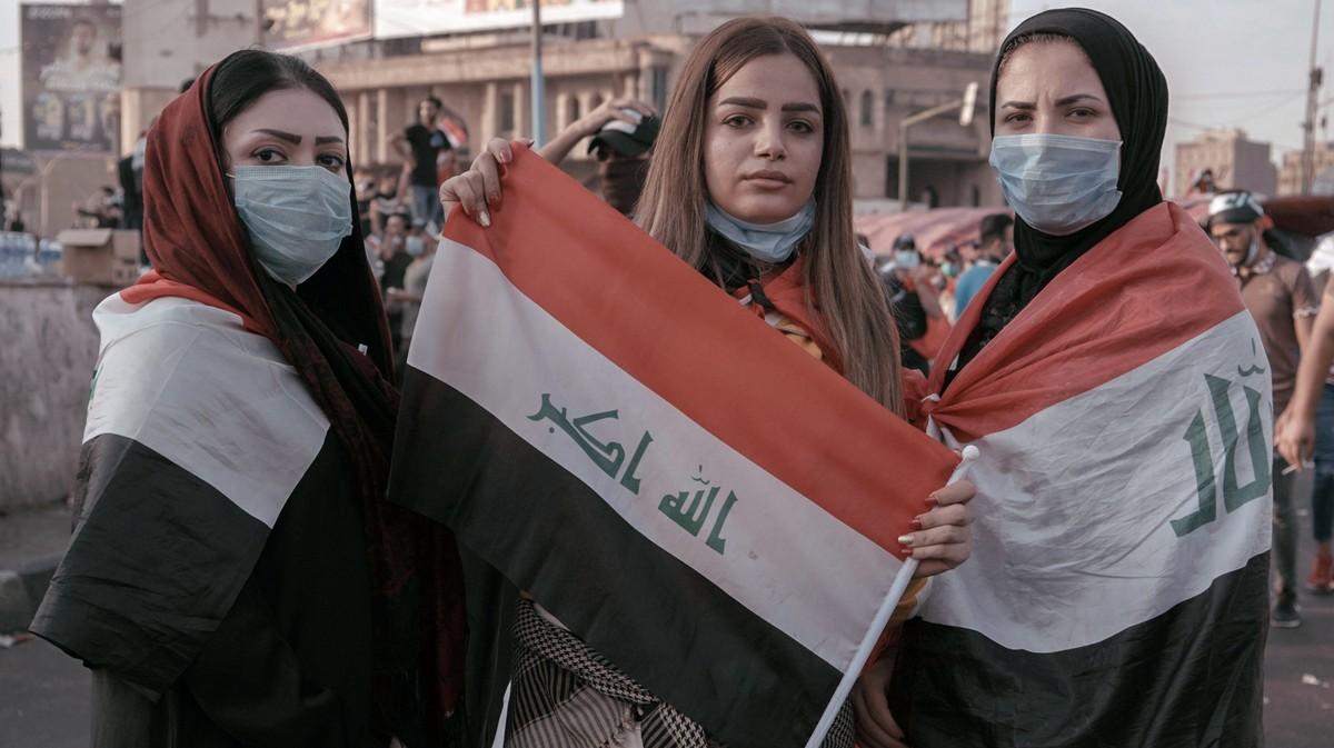 Fotos: Bei den Protesten im Irak stehen Frauen an vorderster Front