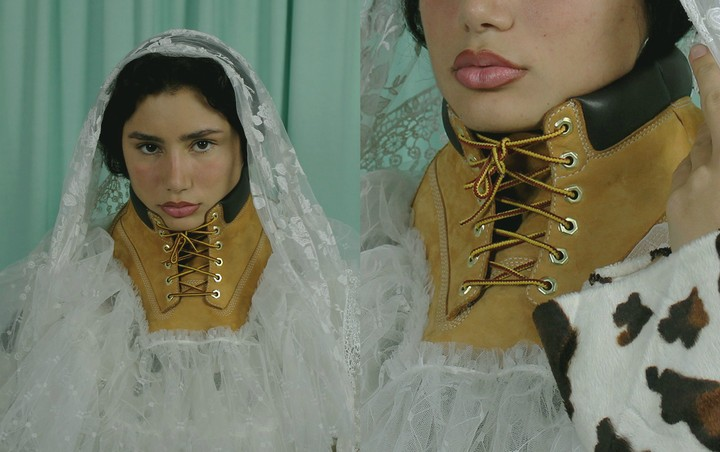 This Kurdish sneakerhead turns old kicks into futuristic outfits