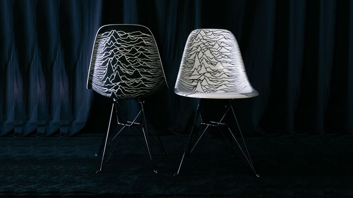 Some Iconic Album Artwork Hits the Equally Iconic Shell Chair