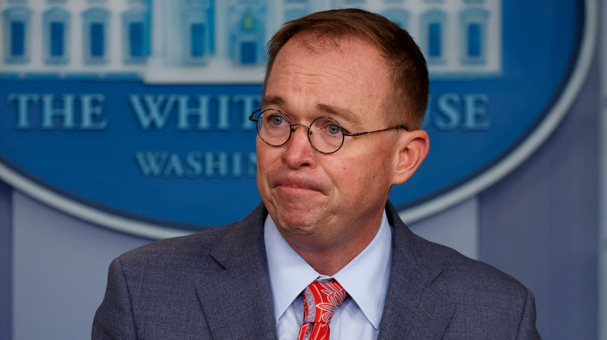 , Hey Look, Mick Mulvaney's Now Caught in Trump's Ukraine Shitstorm, Saubio Making Wealth