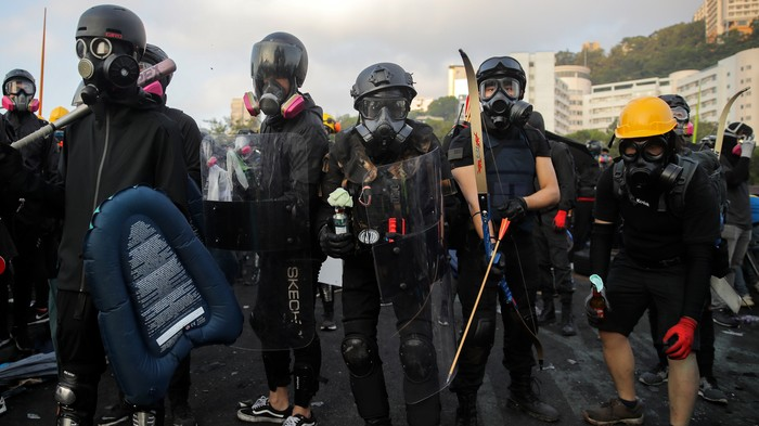 Hong Kong Police Fired Tear Gas at Student Protesters. They Responded With Flaming Arrows.