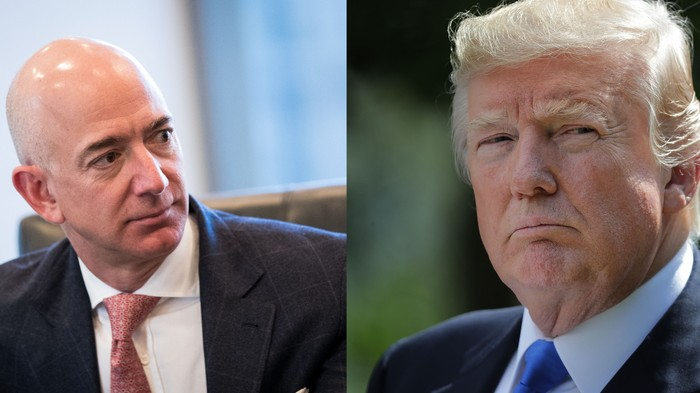 Amazon Says It Didn't Get a $10 Billion Contract Because Trump Hates Bezos