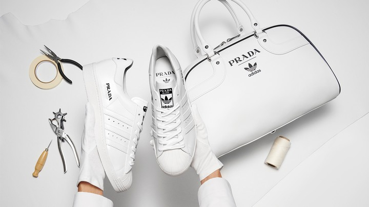 Prada and Adidas have released a limited edition Superstar trainer