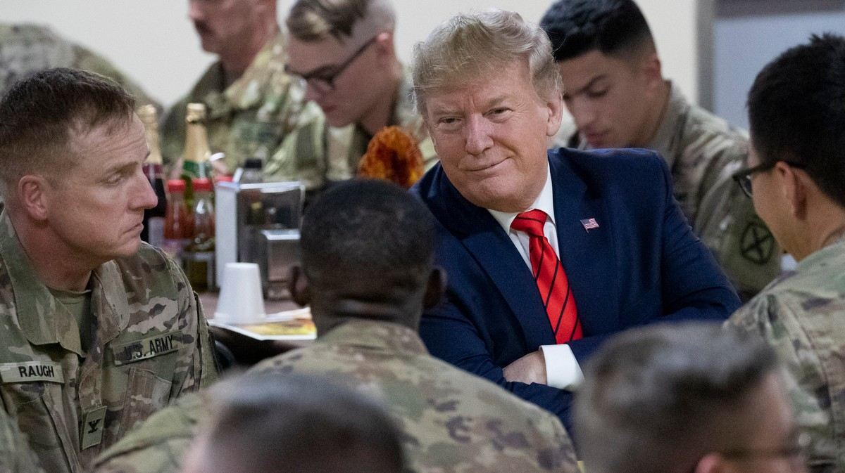 , President Trump Used His Thanksgiving Visit to the Troops to Bash the Media, Saubio Making Wealth