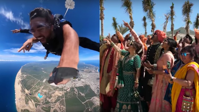 Meet the Groom Who Went Viral After Skydiving Into His Own Wedding