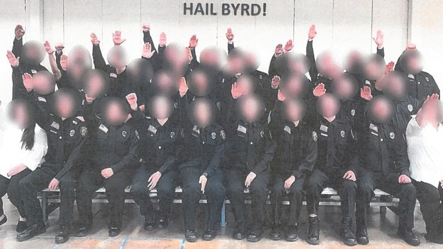 Dozens of West Virginia Corrections Officers Did the Nazi Salute for a Photo