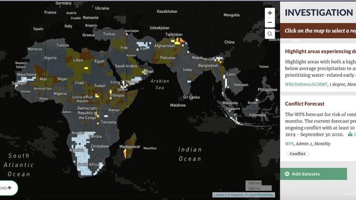 Diese Karte zeigt, wo Gewalt droht, weil das Wasser knapp wird