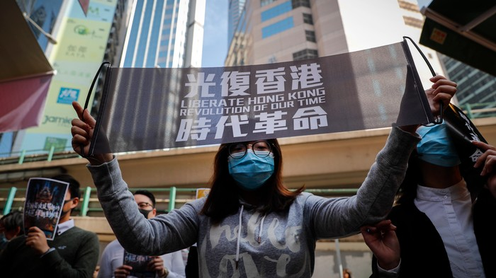 China Keeps Arresting Hong Kong Protesters for 'Soliciting Prostitution'