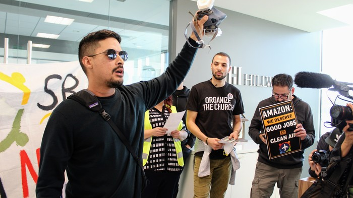 Over 100 Residents of California's Inland Empire Occupy Amazon Developer's Offices