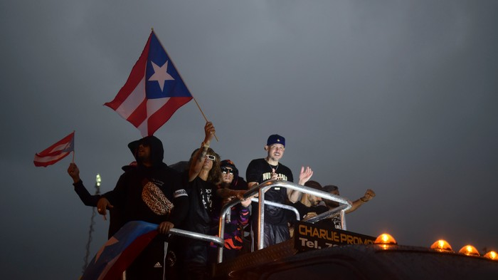 Puerto Rican Protesters Are So Mad at Their Governor They Pushed a Guillotine Through the Streets
