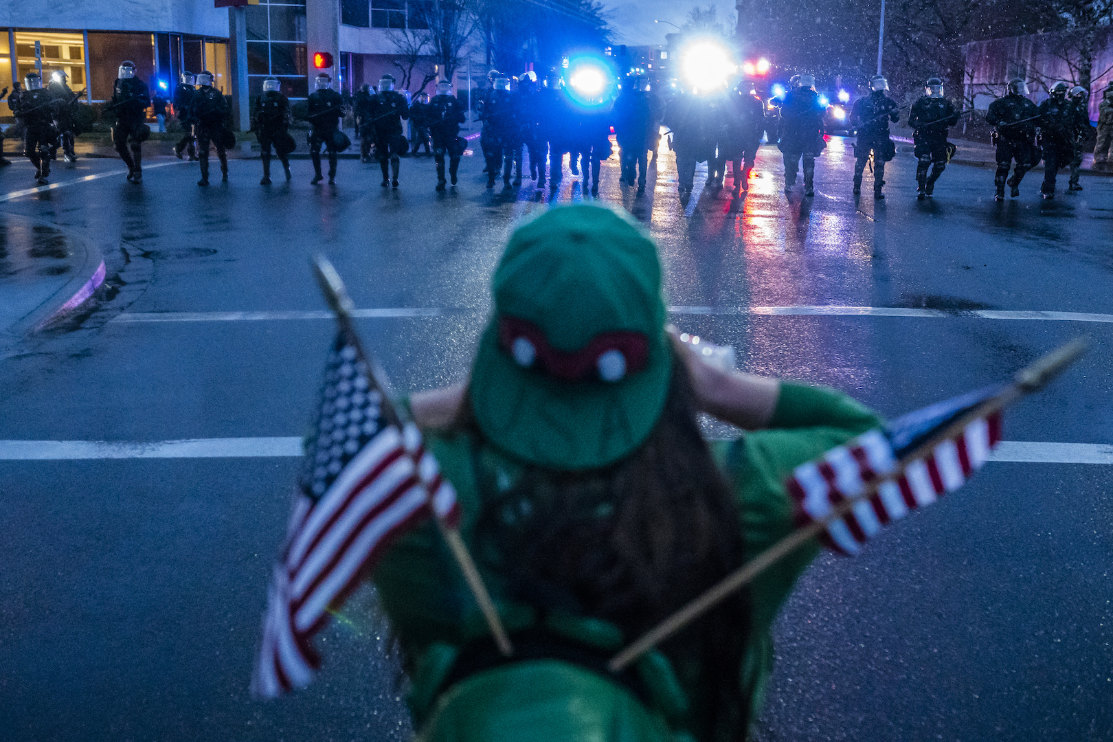 , Proud Boys and Hardcore Trump Supporters Are Turning Their Backs on Cops, Saubio Making Wealth