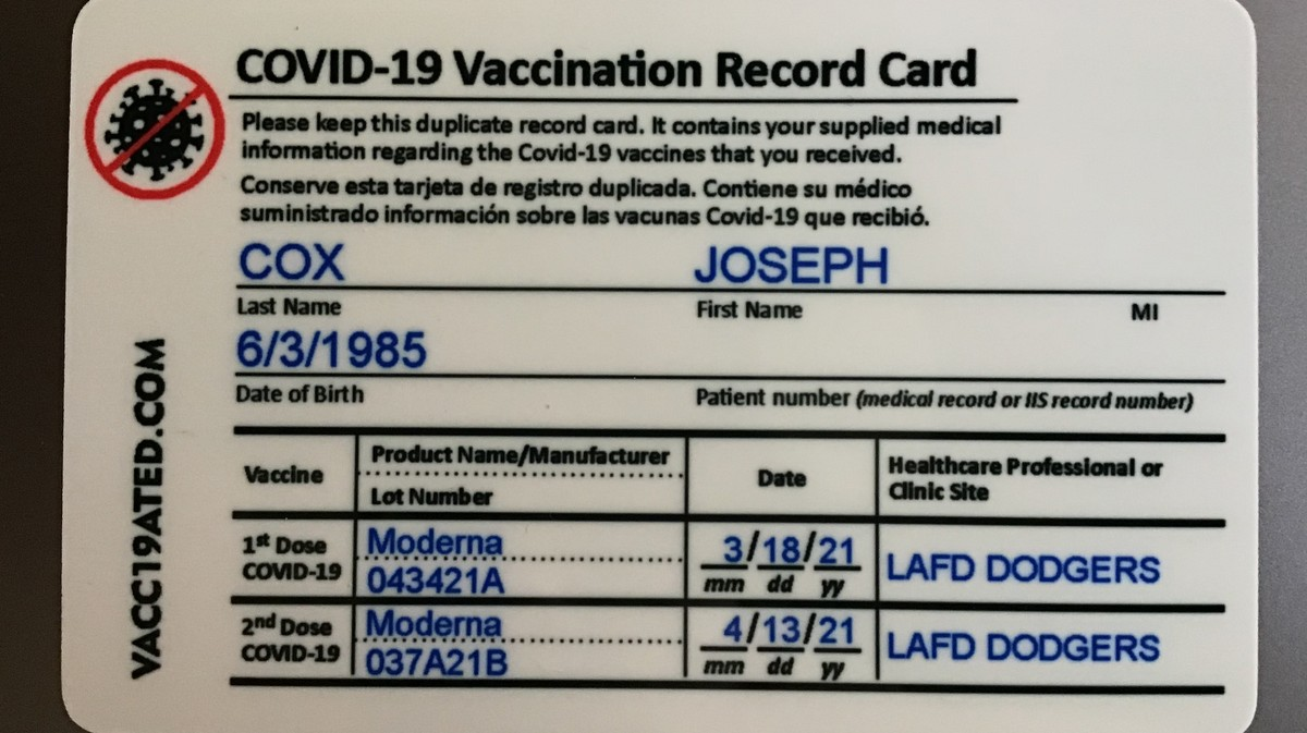 I Bought a Fake COVID-19 Vaccine Card on Etsy