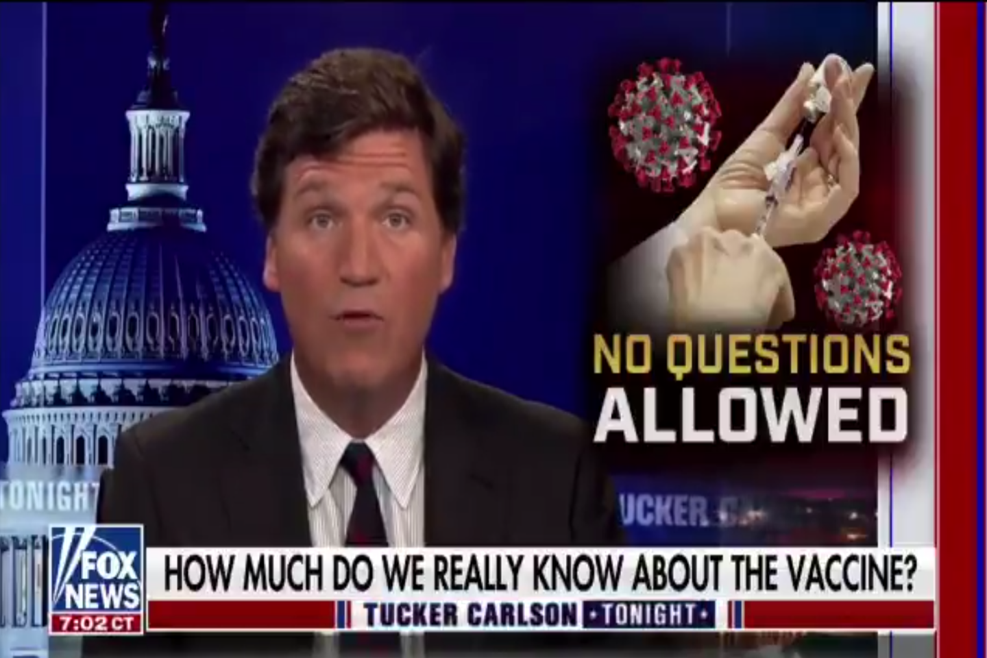 Tucker Carlson Is Telling His Viewers the COVID Vaccine Is a Death Trap - vice