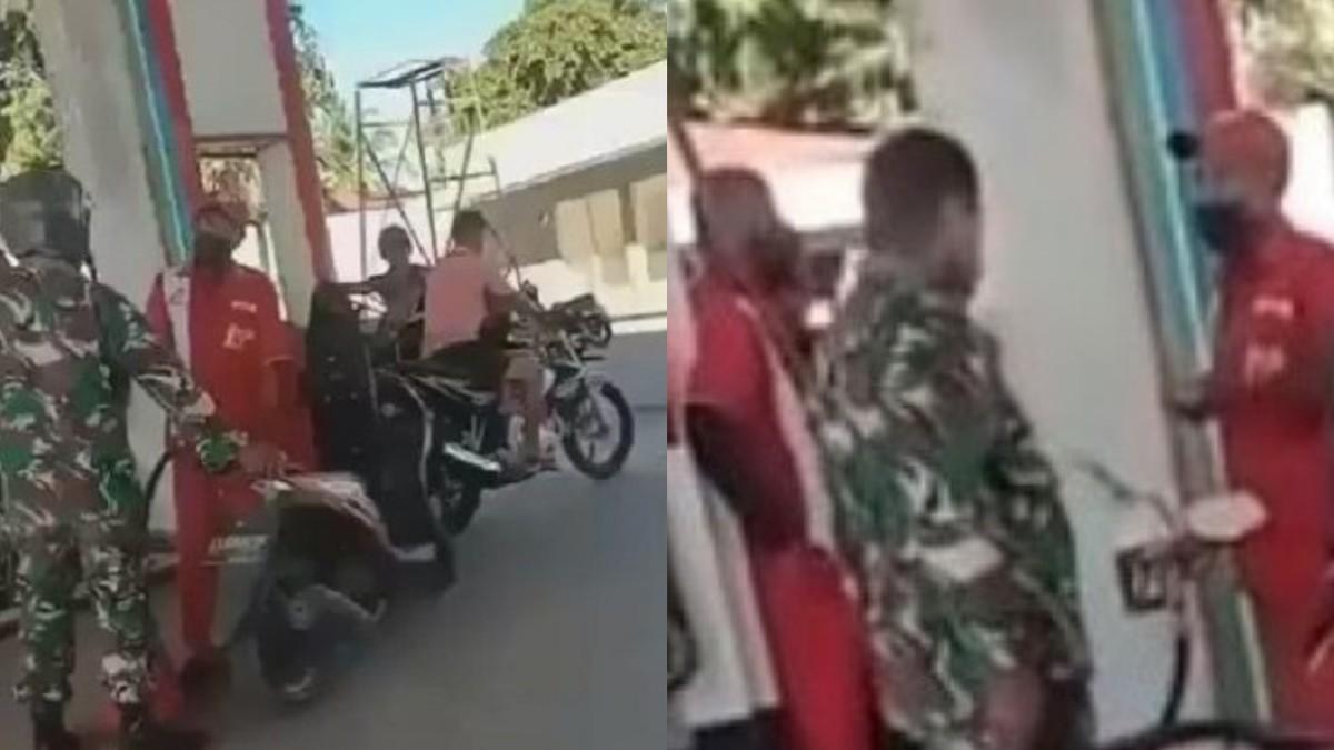 Tentara Pukul Petugas SPBU di NTT Karena Ogah Antre Akan Dibawa ke Pengadilan Militer