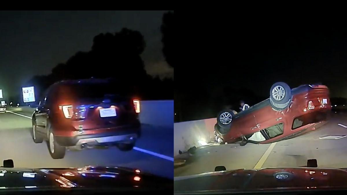 An Arkansas state trooper gave a pregnant woman just two minutes to pull over on a highway before bumping her car with his vehicle, which sent her vee