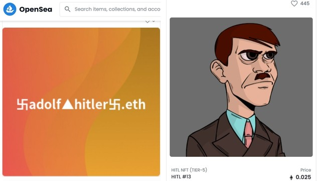 OpenSea Sure Has a Lot of Hitler NFTs for Sale