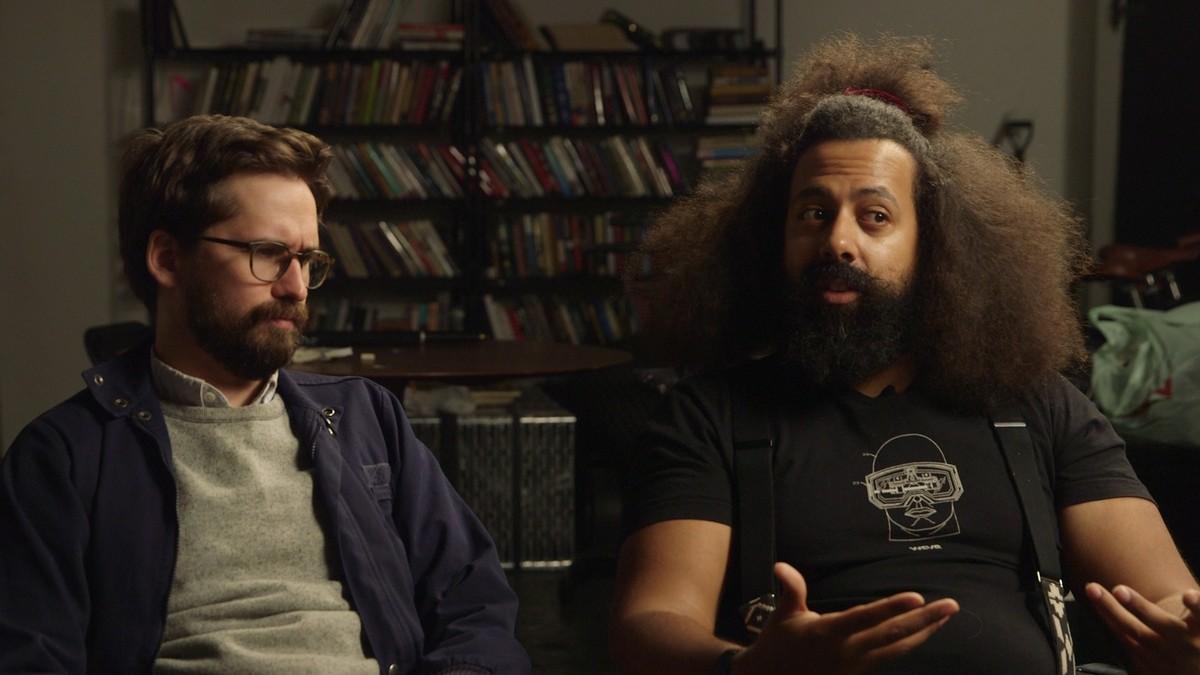 Photo of Benjamin Dickinson & his friend celebrity  Reggie Watts  -