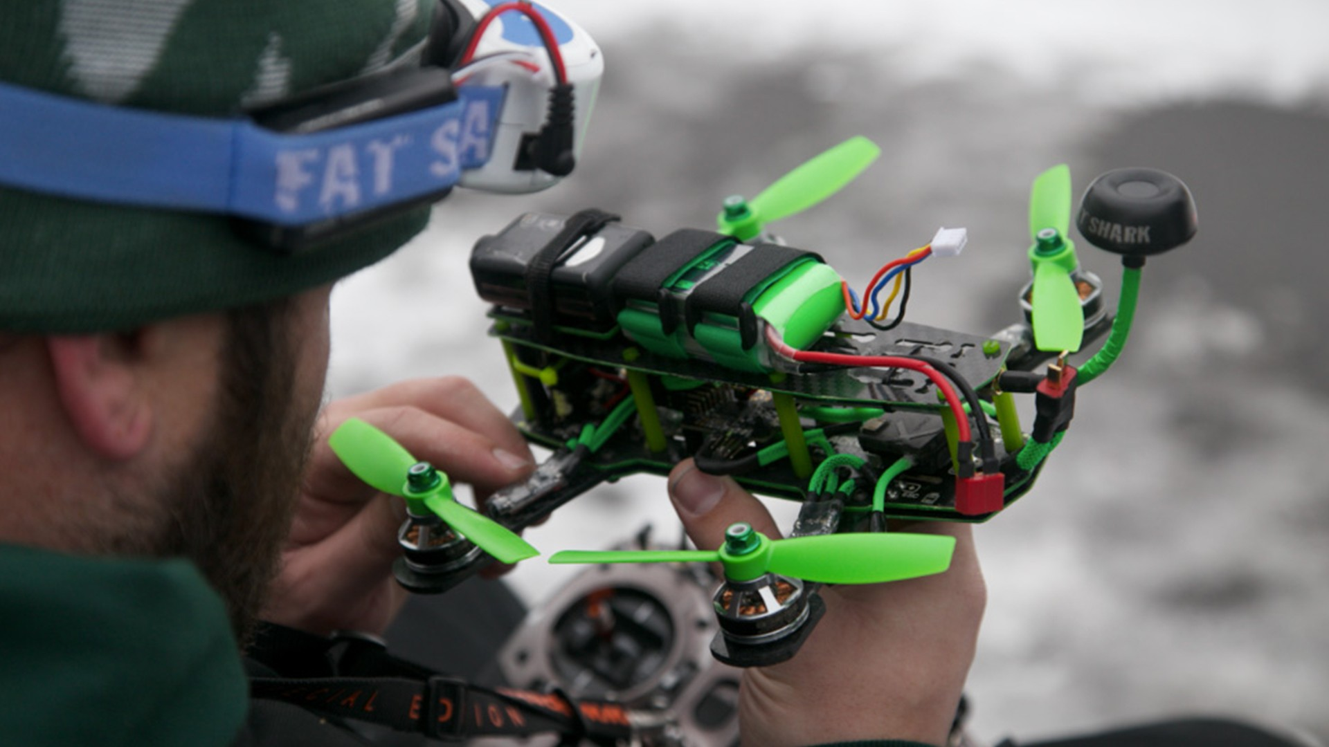 This Is How You Race a Drone in the Snow