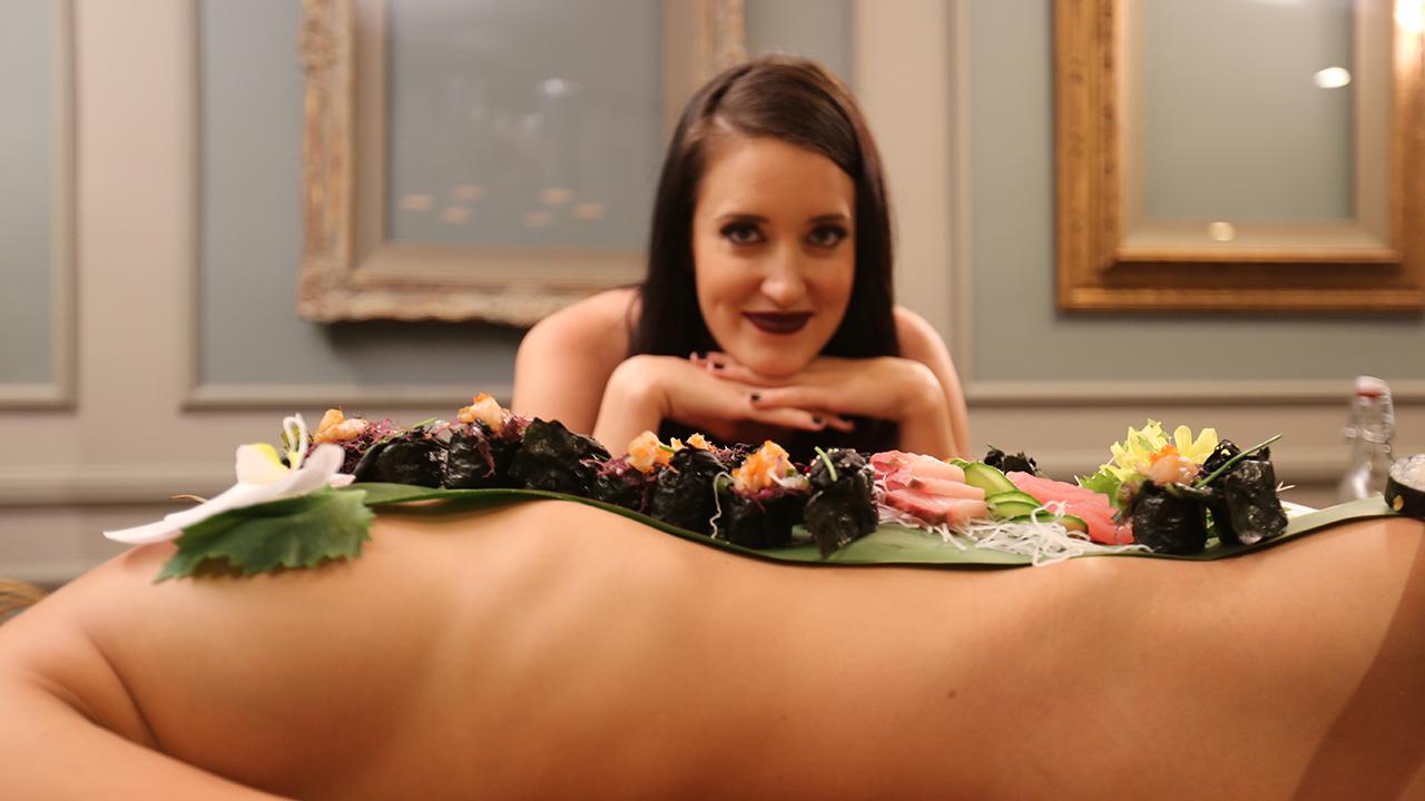 Sex food eaten off nude body