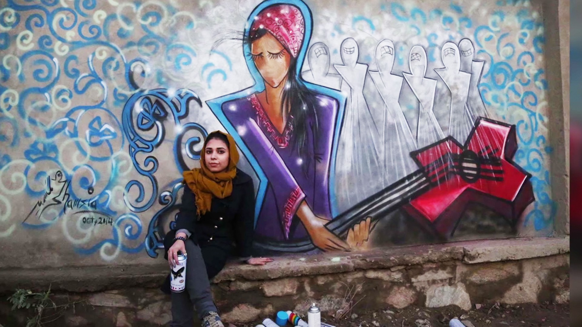 Kabul's Female Graffiti Master