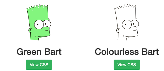 pure css simpsons