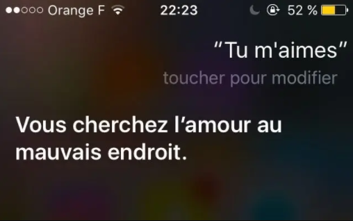 Siri tu m'aimes? iPhone