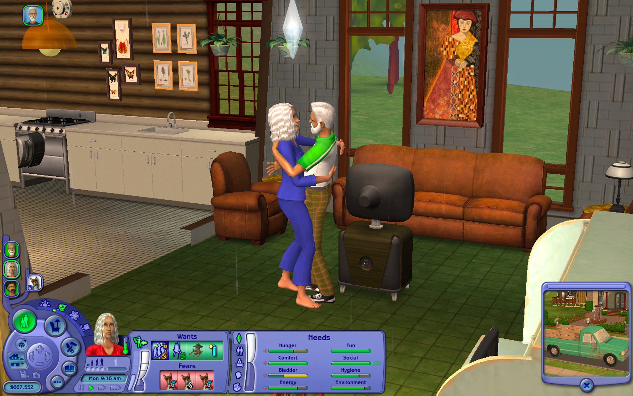 sims couple kissing