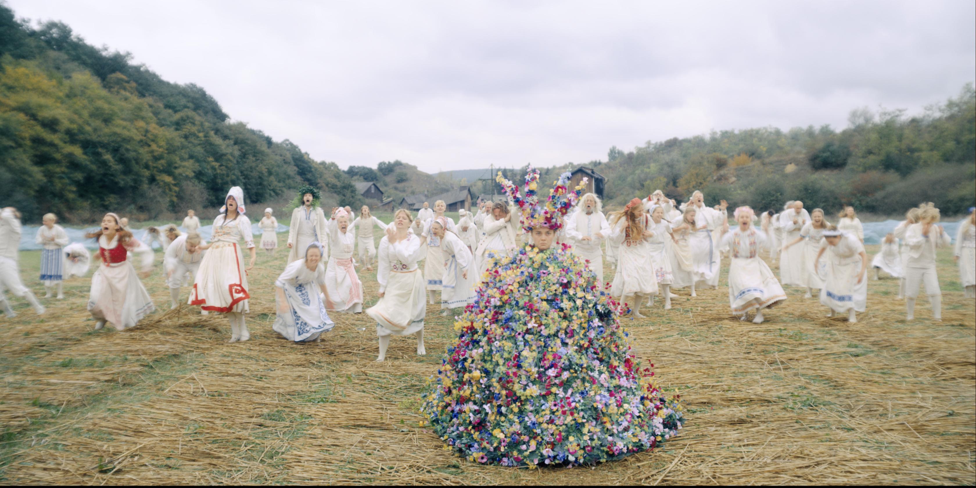midsommar may queen flower dress