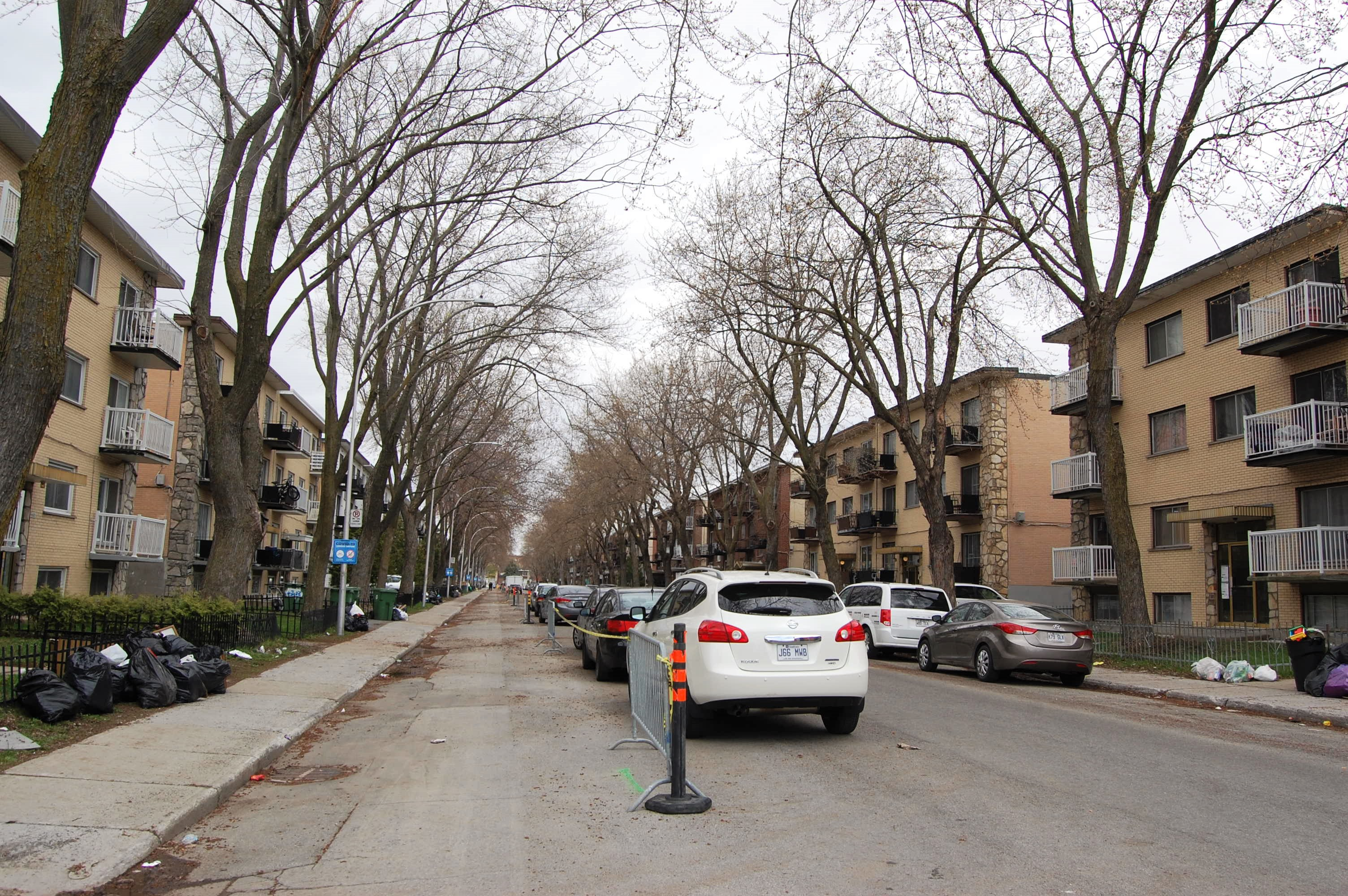 Sidewalks widen in North Montreal