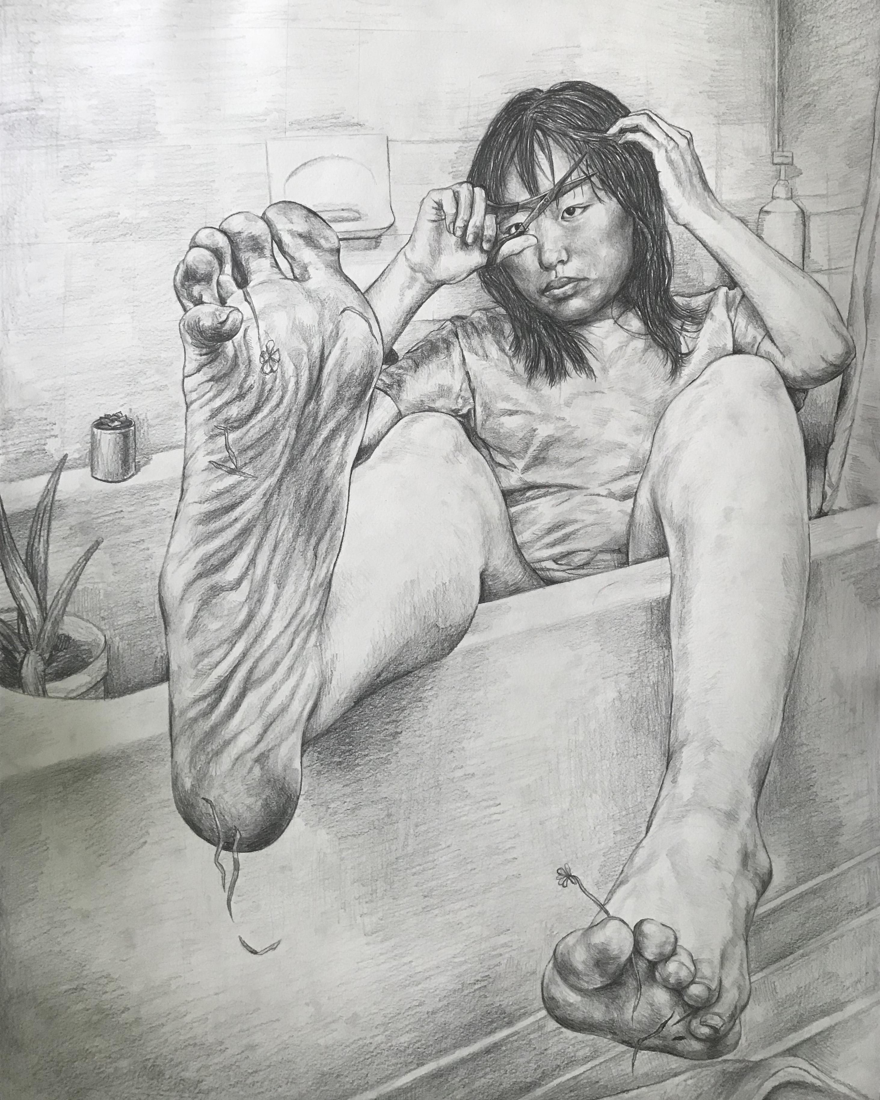 Ashley Jiao artwork Self-Indulgent self-portrait