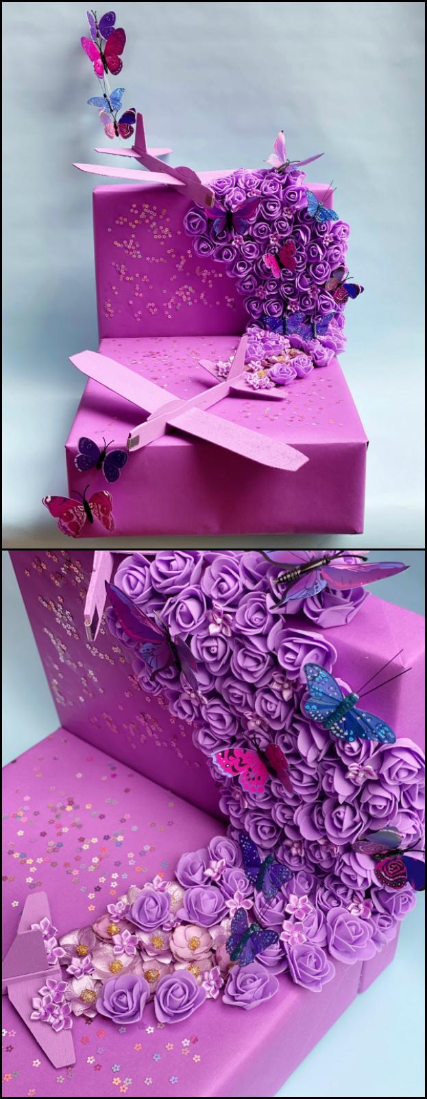 lavender menace mini DIY shoebox parade float