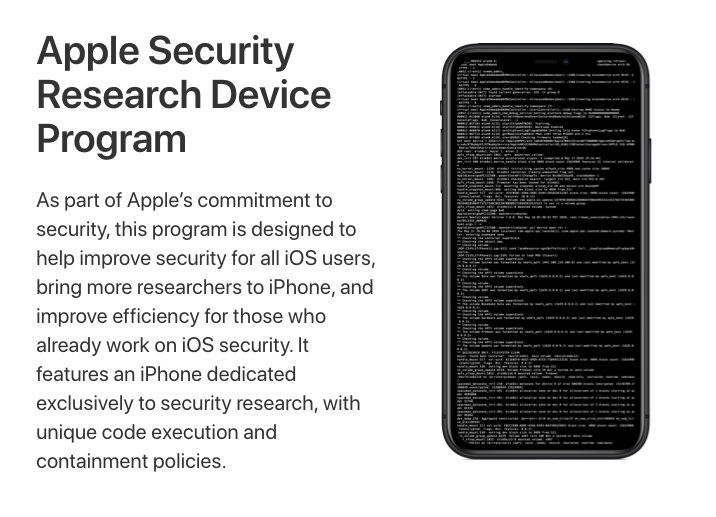 iPhone Research Device Program