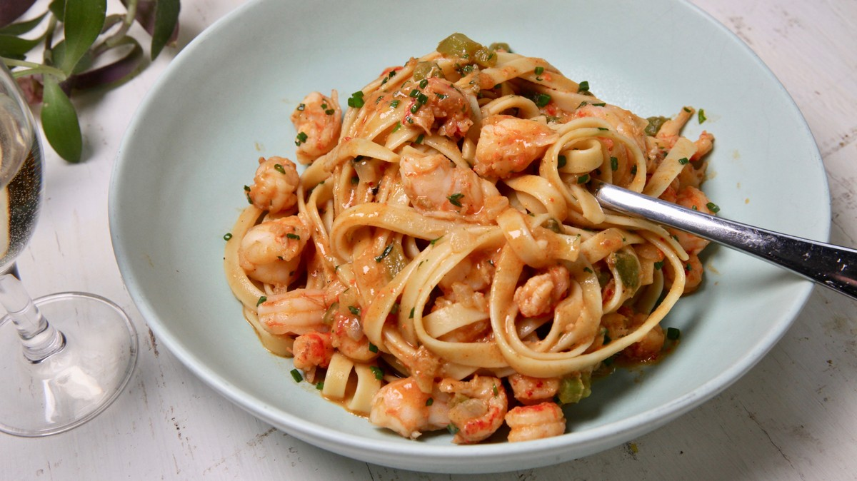 Crawfish and Shrimp Étouffée Pasta Recipe
