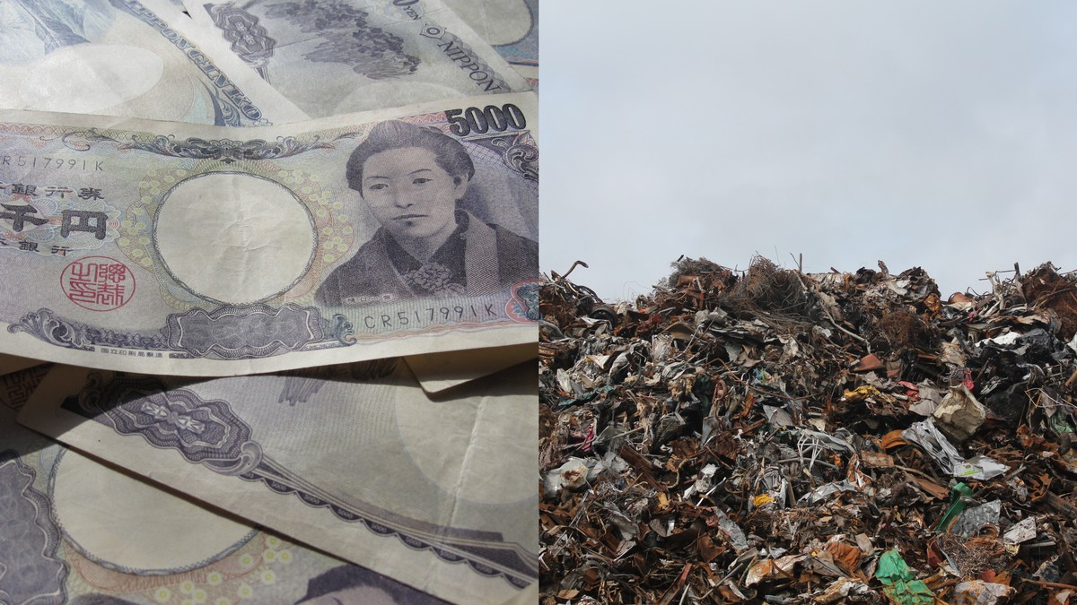 Over $100K Found in a Garbage Dump in Japan