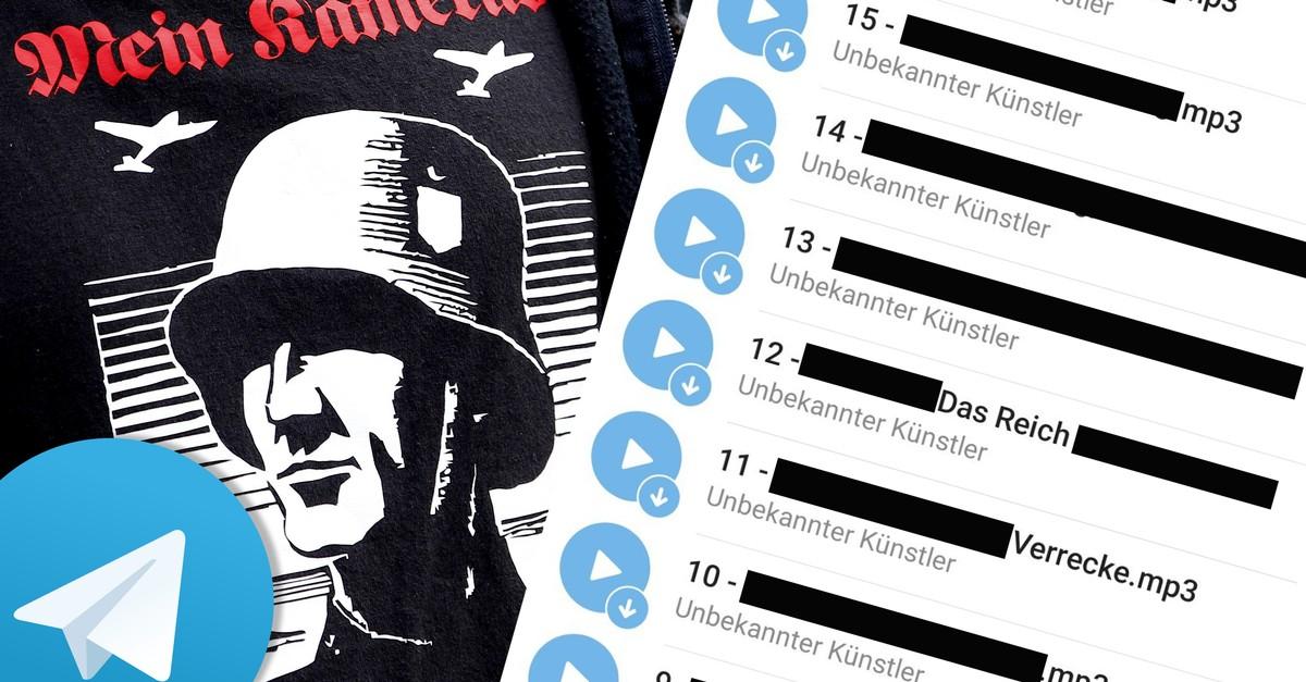 So hemmungslos verbreiten Neonazis rechtsextreme Musik auf Telegram