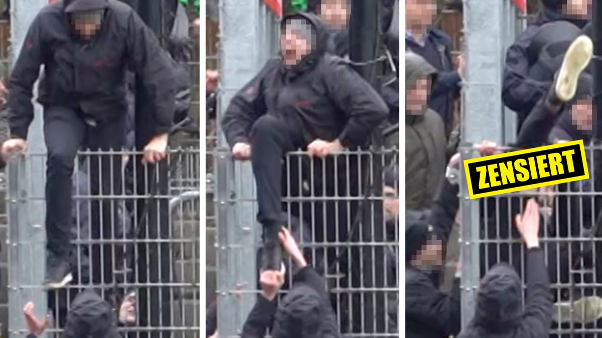 Die deutsche Polizei verletzt einen Fußball-Fan schwer und streitet es danach ab