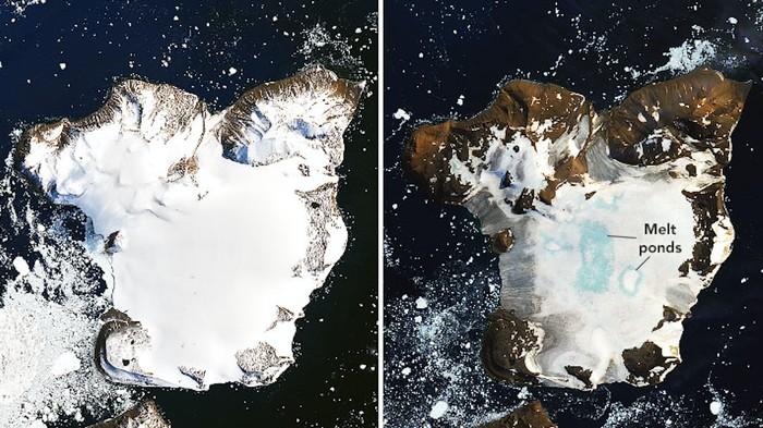 IMAGENS DO EAGLE ISLAND LANDSAT, FEVEREIRO DE 2020. IMAGEM: JOSHUA STEVENS / LANDSAT / USGS