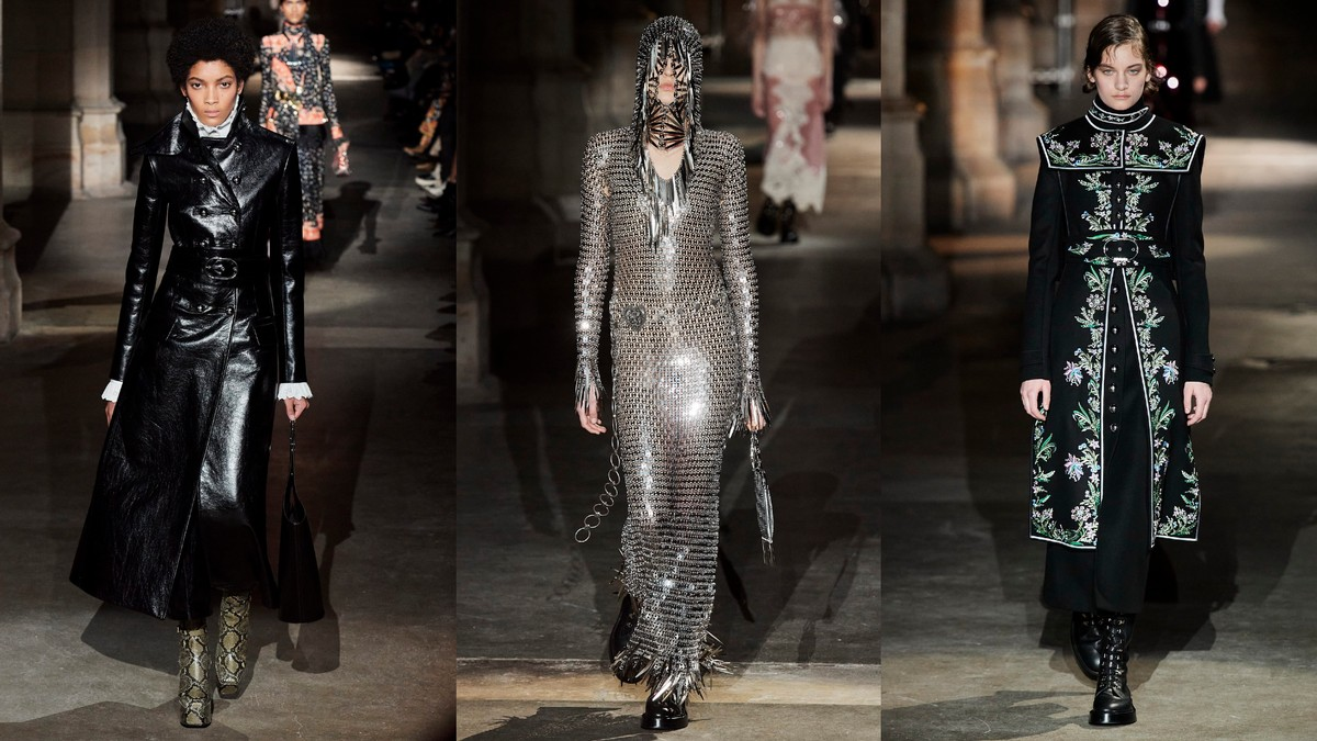 Paco Rabanne's gothic symbolism for AW20