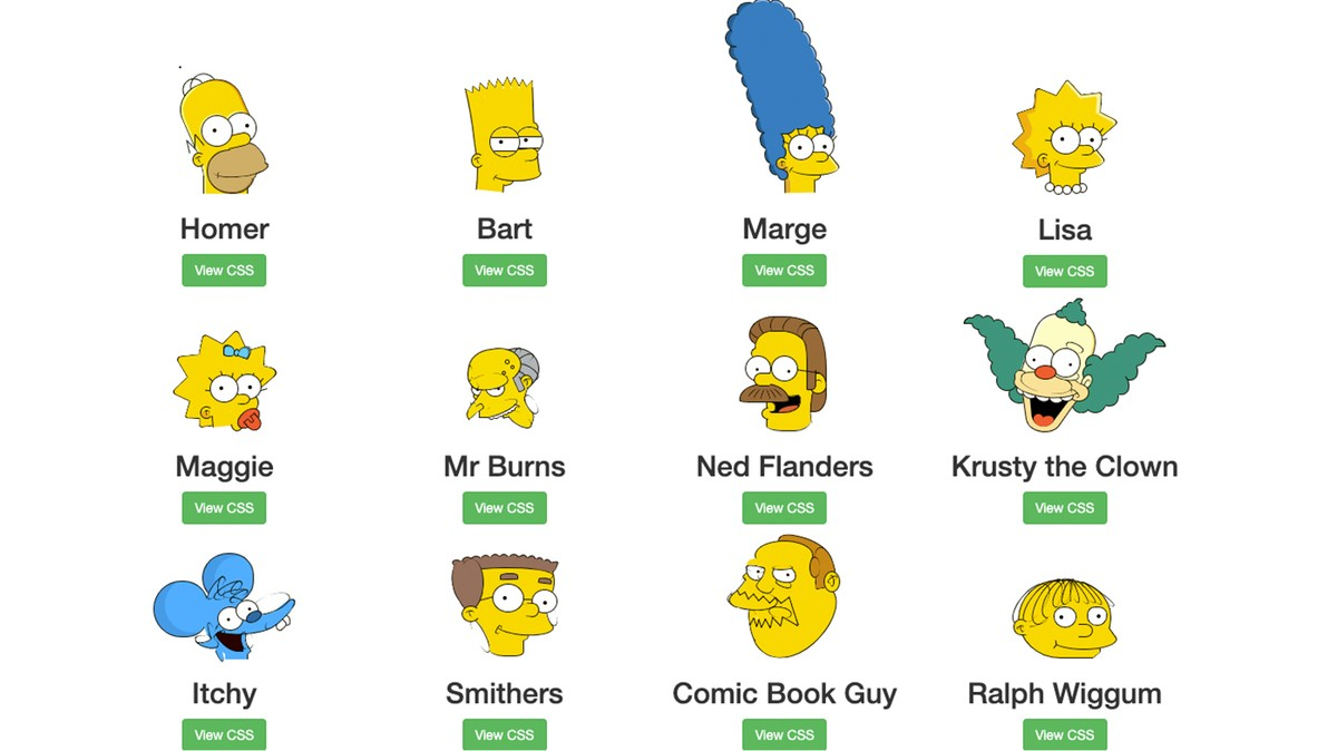 Some Maniac Drew 'The Simpsons' in Pure Code