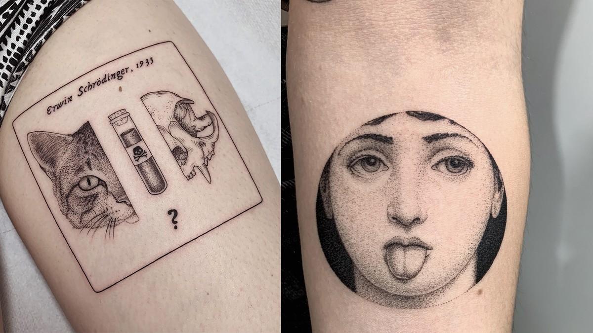 Atlanti anatomici, paradossi di fisica e poesia: ecco i tatuaggi di Michele Volpi