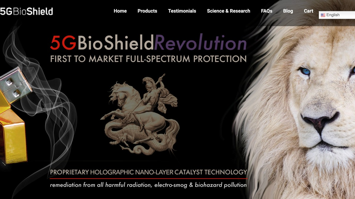 Image of article '370 '5G Bioshield' Is Just USB Stick With a Sticker on It'