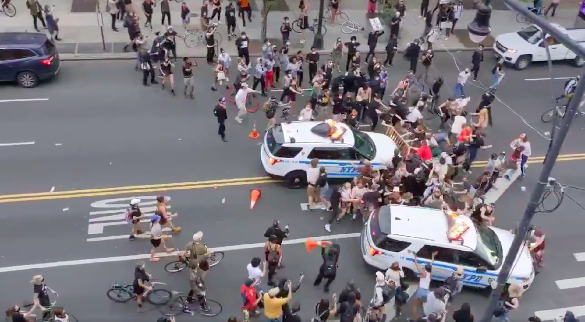 , NYC Mayor Blames Protesters for Cops Who Drove SUVs Through a Crowd of People, Saubio Making Wealth