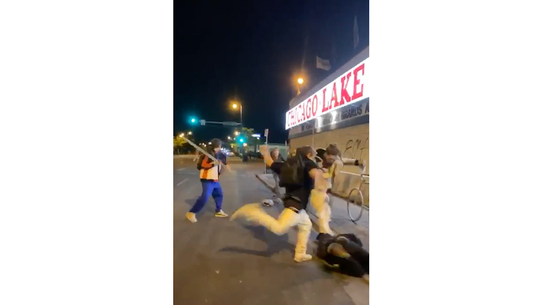 , 3 Young White Guys With a Machete Beat Up a Nonwhite Protester in Minneapolis, Saubio Making Wealth