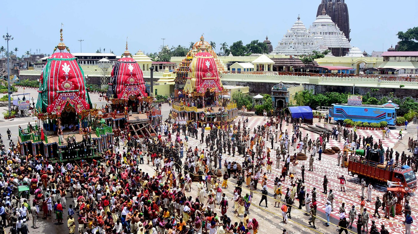 Scaled-Down Jagannath Temple Festival Proceeds