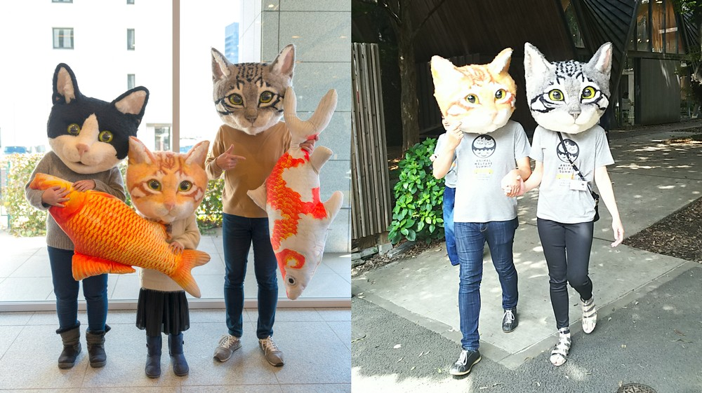 Man Makes Giant Cat Heads