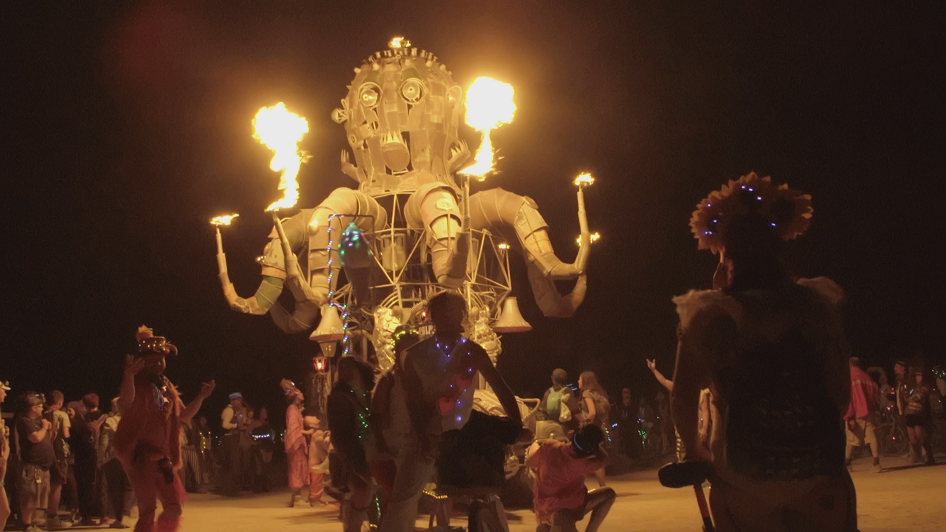 Burning Man, A Brazilian Homage to Hip Hop and Big Data Roses