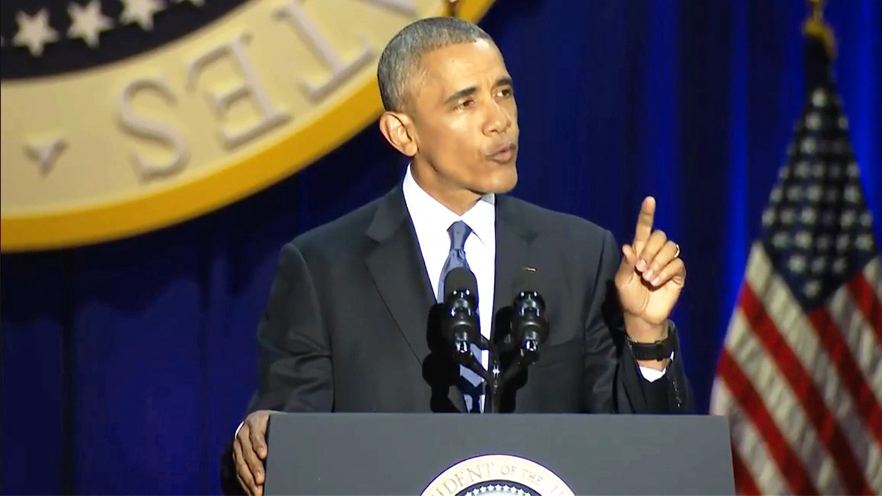 Obama outlines three threats to democracy in his final speech as president